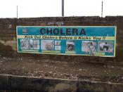 cholera prevention sign board