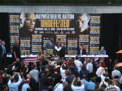 Press Conference in NYC for the Mayweather-Hatton fight