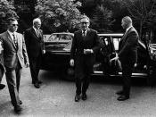 28 Sep 1970, Paris, France --- Henry Kissinger at Vietnam War Meeting in Paris