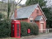 English: Lines Of Communication Chapel alongside the B4393.