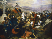 Charles Martel in the Battle of Tours