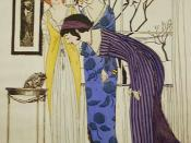 English: Fashon Designs by Paul Poiret, 1908. illustrated by Paul Iribe Deutsch: Modezeichnung von Paul Poiret, 1908