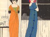 Illustration of two Paul Poiret dresses