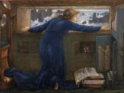 Goauche of Dorigen of Bretagne longing for the safe return of her husband by Edward Burne-Jones, 1871. Victoria and Albert Museum, London, museum no. CAI.10 (Link)