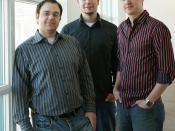 English: DigitalJournal.com management team from left to right: Managing Editor, David Silverberg; Chief Technology Officer, Alex Chumak; Chief Executive Officer, Chris Hogg.