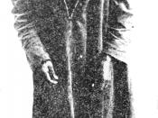 Ishi the last of the Yahi tribe. From a photograph taken after his capture at Oroville, California in 1911. He is wearing a