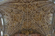 Baroque vault of the choir of the cathedral of Cordoba Spain