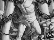 English: Samson destroys the temple