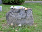 English: Artist 's grave at East Marion Cemetery, East Marion, NY.
