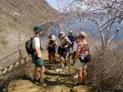 English: Hiking up Tagus Cove on Isabela Island in the Galapagos Islands.