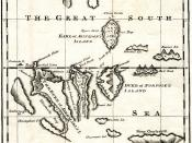 English: Map of the Galapagos Islands as described by Ambrose Cowley in 1684.