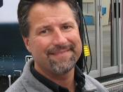Andretti Autosport (then Andretti Green Racing) owner, Michael Andretti, in the garage area at Michigan International Speedway for the 2007 Firestone Indy 400.