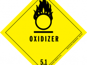Dangerous goods label for oxidizing agents