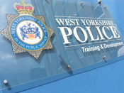 English: West Yorkshire Police Training & Development signage