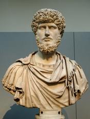 Portrait of Emperor Lucius Verus. Marble, ca. 161-170 AD. From Rome.