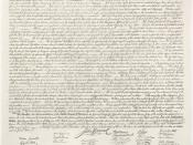 English: This is a high-resolution image of the United States Declaration of Independence (article