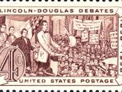 English: Lincoln-Douglas Debates, 1958 American Civil War commemorative issue