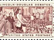 English: Lincoln-Douglas Debates, 1958 American Civil War commemorative issue