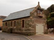 The former lifeboat station in Hope Cove, south Devon, UK.