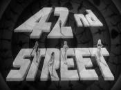 English: Main title frame from public domain trailer for 1933 Warner Bros. film 42nd Street
