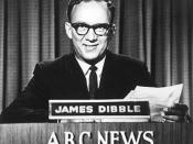 James Dibble reading the first ABC News bulletin in 1956.