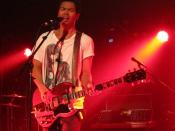 Dougy Mandagi, lead singer of The Temper Trap, performing at Chicago, Illinois