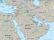 Middle East Map עברית: מפה מדינית של המזרח התיכון Bahasa Indonesia: Peta yang menunjukkan Asia Barat Daya - Istilah