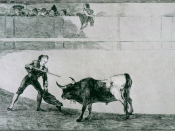 La Tauromaquia: Pedro Romero Killing the Halted Bull, 1816
