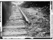 Broken rail which wrecked