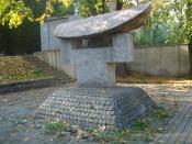 Chiune Sugihara monument in Vilnius (Pamėnkalnio g.) by Vladas Vildžiūnas and Goichi Kutogawa. Erected in 1992.
