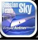 English: The logo of (RST VA) Russian Sky Team Virtual Airlines Русский: Логотип виртульной авиакомпании RST
