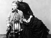 Franklin Delano Roosevelt with his mother Sara, 1887