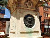 English: Photo of Edgar Allan Poe's Monument/Gravestone in Westminster Hall and Burying Ground, photo taken July 2, 2010