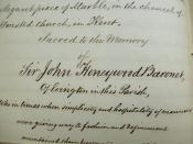 Pocock handwriting