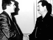 Carlos Cardoen meets with Iraqi Leader Saddam Hussein.
