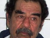 Republic of Iraq Former President Saddam Hussein, following his capture by US Army (USA) Soldiers in Tikrit, Iraq. Hussein had his beard shaven to confirm his identity. ID: DDSD0501885 Service 031214X0000X002 Depicted: DoD or Joint Civilian Operation / Se