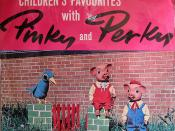 'Pinky and Perky' album cover by Columbia (1961)