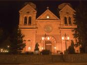 Cathedral Bascilica of St. Francis of Assisi at Night -- Santa Fe (NM) 2013