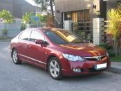 8th Generation Honda Civic (2006-2008) photographed in Cainta Rizal