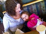 Dianna and Harper at Boston Market