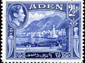 Aden is known for its boat-oriented stamps. Mukalla is on the Hadhramaut coast, about 500 km east of Aden, in what was then the Aden Protectorate.