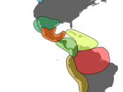 Major cultural areas of the pre-Columbian Americas: Arctic Northwest Aridoamerica Mesoamerica Middle Caribbean Amazon Andes