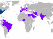 English: Foreign trips of Jimmy Carter during his presidency.