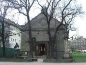 de: Die 1838 erbaute St.-Trinitatis-Kirche zu Gleiwitz. en: Holy Trinity church in Gliwicefrom 1838. pl: Kościół Świętej Trójcy w Gliwicach z 1838.