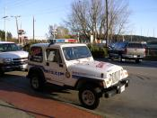 A WVPD vehicle, outfitted for the D.A.R.E. program.