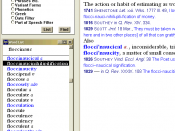 A screenshot of the first version of the OED Second Edition CD-ROM software.