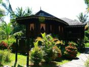 English: A sarawakian-malay kampung house.