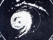 Radar image of Hurricane Donna making landfall