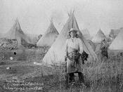 January 17, 1891: Young Man Afraid of his Horses at Camp of Oglala tribe of Lakota at Pine Ridge, South Dakota, 3 weeks after Wounded Knee Massacre