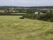 English: The Countryside around Coombe Farm. A landscape of mixed arable and pastoral farming.